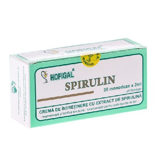 Crema cu extract de Spirulina 30monodoze Hofigal