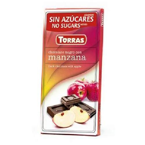 Ciocolata Neagra cu Mar 75gr Torras