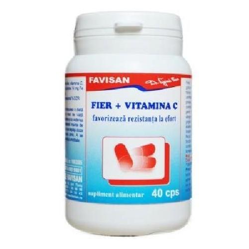 Fier + Vitamina C 40cps Favisan