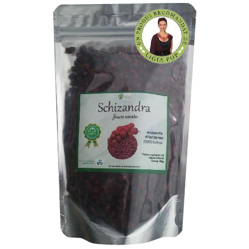 Schizandra Fructe Uscate Raw Eco 125gr Obio