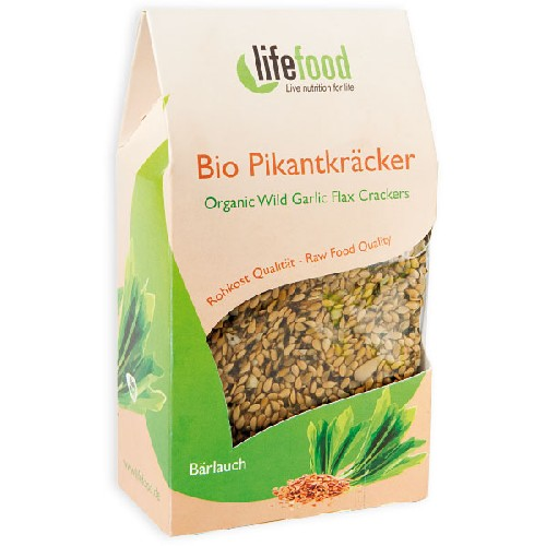 Crackers cu Leurda Raw Bio 90gr Lifefood