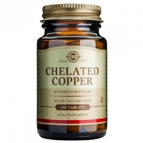Chelated Copper (Cupru Chelat) 100tablete Solgar