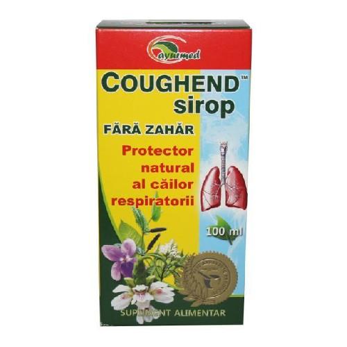 Coughend Sirop Fara Zahar 100ml Ayurmed