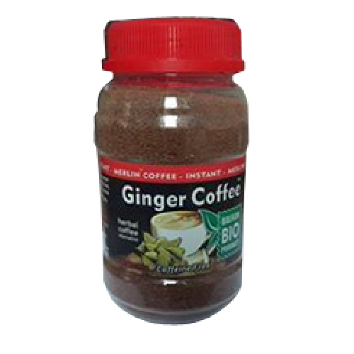 Ginger Coffee (cafea Instant) Cu Ghimbir Si Cardamom 100g Merlin