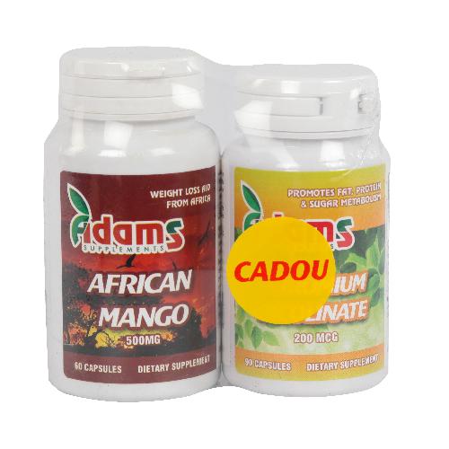 Pachet African Mango 60cps + Chromium Picolinate 90cps GRATIS