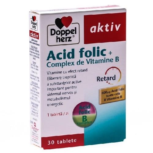 Acid Folic + Complex  Vitamina B 30cpr Doppel Herz