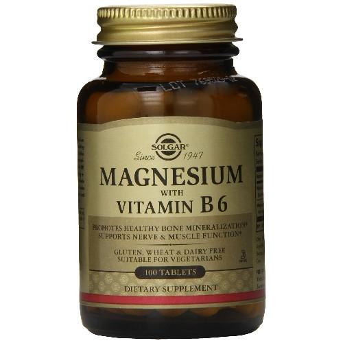 Magnesium + Vitamina B6 100tab Solgar