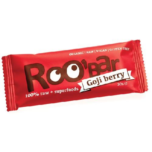 Baton Raw Bio cu Goji 30gr Roobar