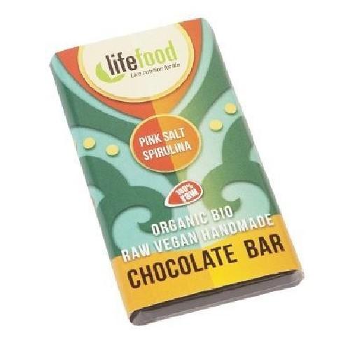 Ciocolata Mini cu Spirulina si Sare de Himalaya Raw Bio 15g Life