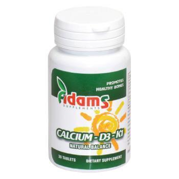 Calciu-D3-K1 30tablete