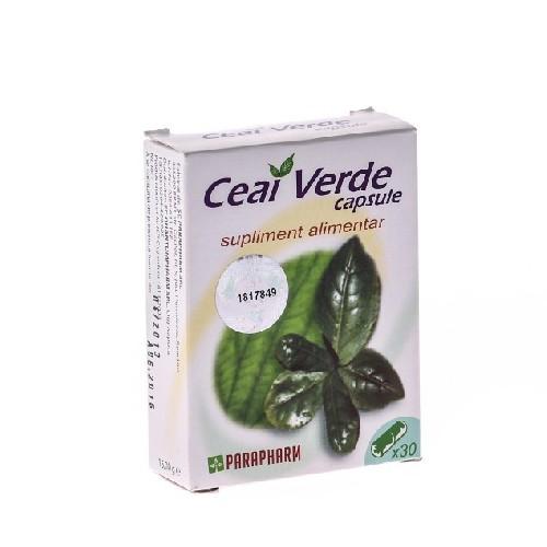 Ceai Verde 30cps Parapharm