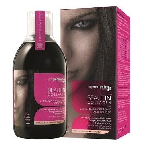 Beautin Collagen cu aroma de Mango si Pepene 500ml My Elements