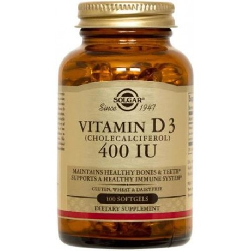 Vitamin D3 400UI Softgels 100cps Solgar