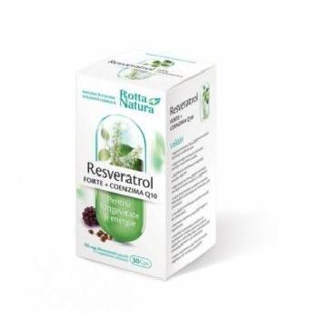 Resveratrol Forte + Coenzima Q10 30cps Rotta Natura