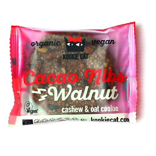 Cookie cu Nuci si Cacao Fara Gluten Bio 50gr KookieKat