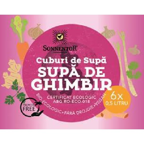 Cub Supa Ghimbir  Eco 6cuburi X 60gr Sonnentor