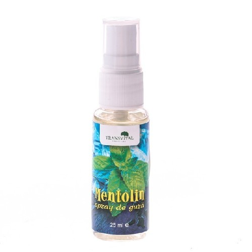 Mentolin Spray Gura 25ml Transvital