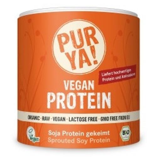 Vegan Protein din Soia Germinata Raw Bio 250gr Purya