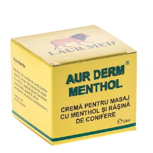 Aur Derm Crema Masaj Antireumatic cu Menthol 50ml