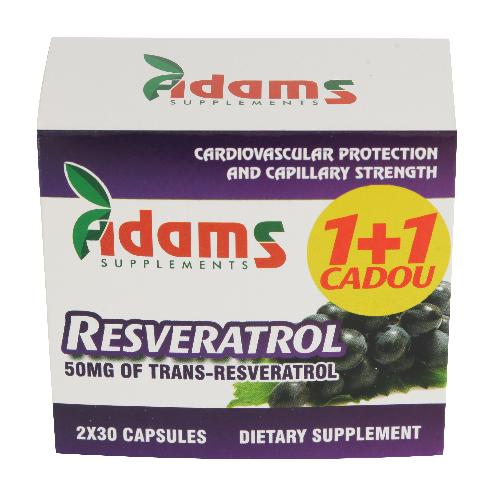 Resveratrol 50mg 30capsule 1+1 GRATIS