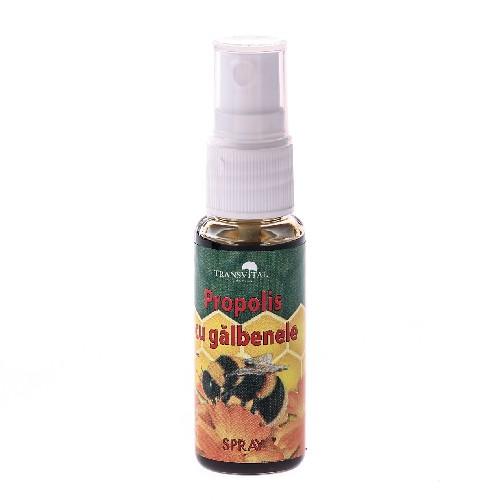 Spray Propolis Cu Galbenele 25ml Transvital