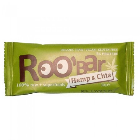 Baton Roobar Chia&Canepa Eco 30gr Dragon Superfoods