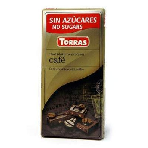 Ciocolata Neagra cu Cafea 75gr Torras