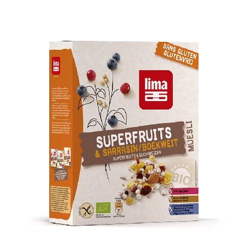 Muesli cu Superfructe si Hrisca Bio, Fara Gluten, 250gr Lima