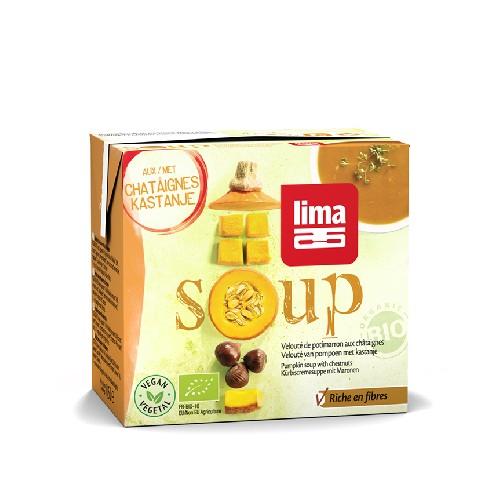 Supa Crema de Dovleac cu Castane Bio 500ml Lima