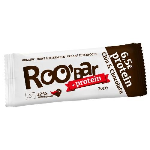 Baton Roobar Proteic Chia Si Ciocolata Raw Bio 30gr