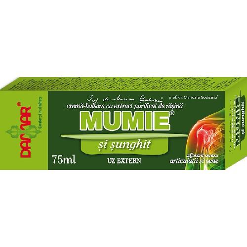 Crema balsam Sunghit cu rasina de Mumie 75ml Damar