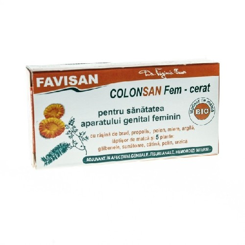 Supozitor ColonSan Fem cu 5 plante 10buc Favisan