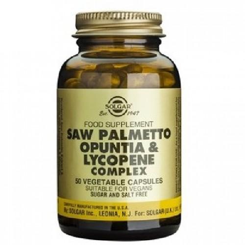 Saw Palmetto Opuntia Lycopene Complex 50cps Solgar