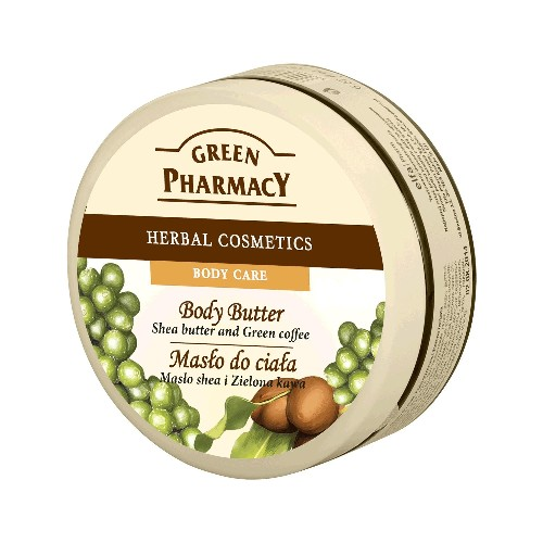Unt De Corp Cu Unt De Shea Si Cafea Verde 200ml Green Pharmacy