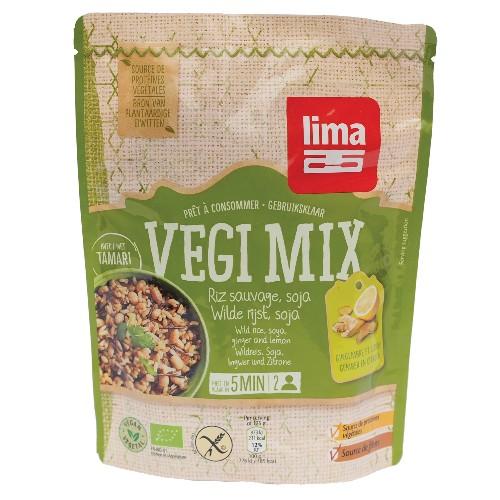 Vegi Mix Ghimbir, Orez Salbatic si Soia Bio 250gr (Fara Gluten)