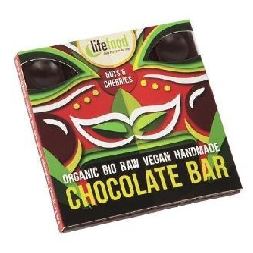 Ciocolata cu Nuci si Cirese Raw Bio 35g Lifefood
