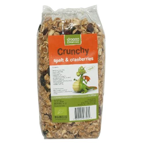Crunchy Cu Ciocolata Bio 300gr Dragon Superfoods