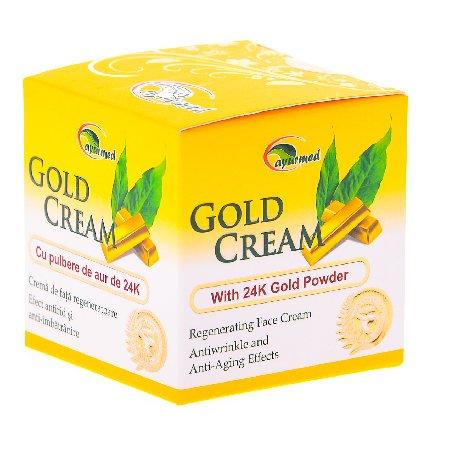 Crema de Fata Regeneratoare cu Pulbere de Aur 50ml Ayurmed