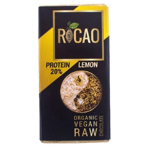 Ciocolata Cu Lamaie Si 20% Proteine Raw Bio 27gr Rocao