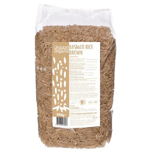 Orez Basmati Brun Bio 500g Dragon Superfoods