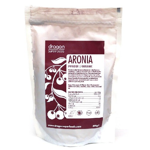 Aronia Pudra Raw Bio 200gr Dragon Superfoods