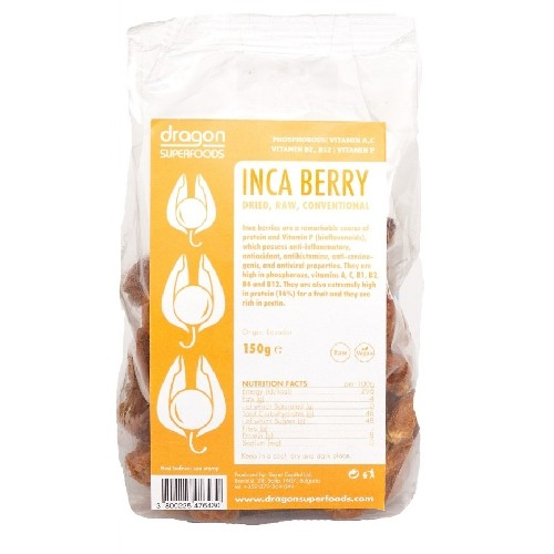 Fructe Incan (golden) Berry Raw Bio 150gr Dragon Superfoods