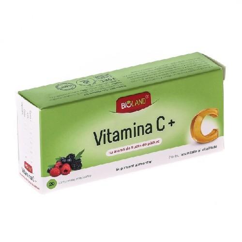 Vitamina C Cu Aroma De Fructe De Padure 20cpr Bioland