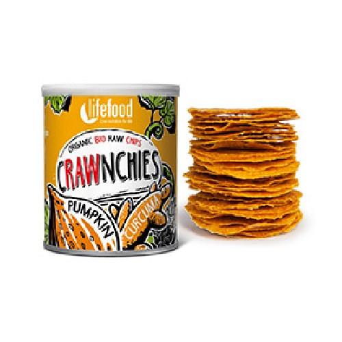 Chips Crawnchies Cu Dovleac Si Turmeric Raw Bio 30gr Lifefood