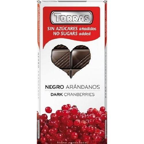 Ciocolata Neagra cu Coacaze 150gr Torras
