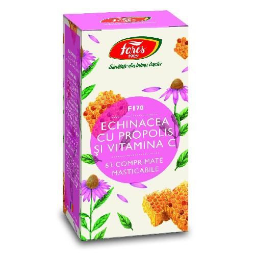 Echinacea cu Propolis si Vitamina C 63cps Fares