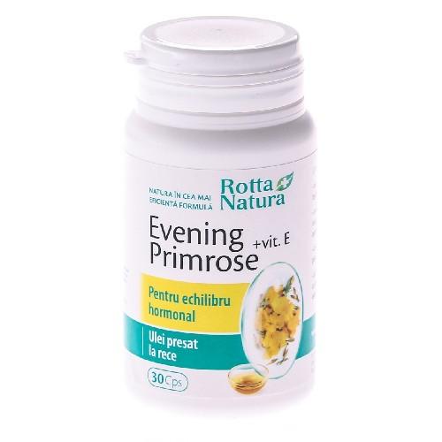 Evening Primose + Vitamina E 30cps Rotta Natura