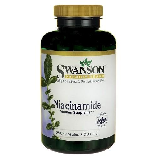 Niacinamida (Vitamina B3) 500mg 250cps Swanson