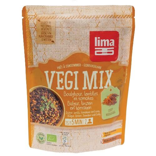 Vegi Mix Curry, Bulgur si Linte Bio 250gr Lima