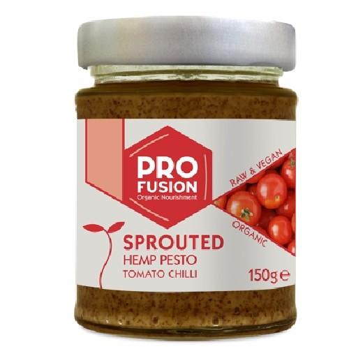 Pesto din Seminte de Canepa Germinate cu Rosii si Chilli Raw Bio